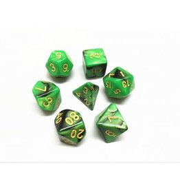 HD Dice, LLC. Blend Green-Black Poly Dice (7)