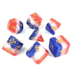 HD Dice, LLC. Layer Red, White, Blue Poly Dice (7)