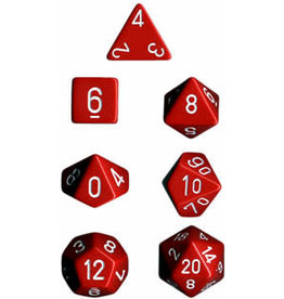 Chessex Opaque Poly Red/White (7)