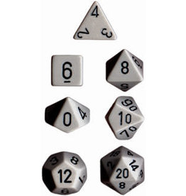 Chessex Opaque Poly Grey w/ Black (7)