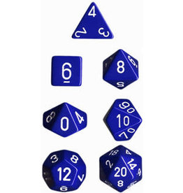 Chessex Opaque Poly Blue/White (7)
