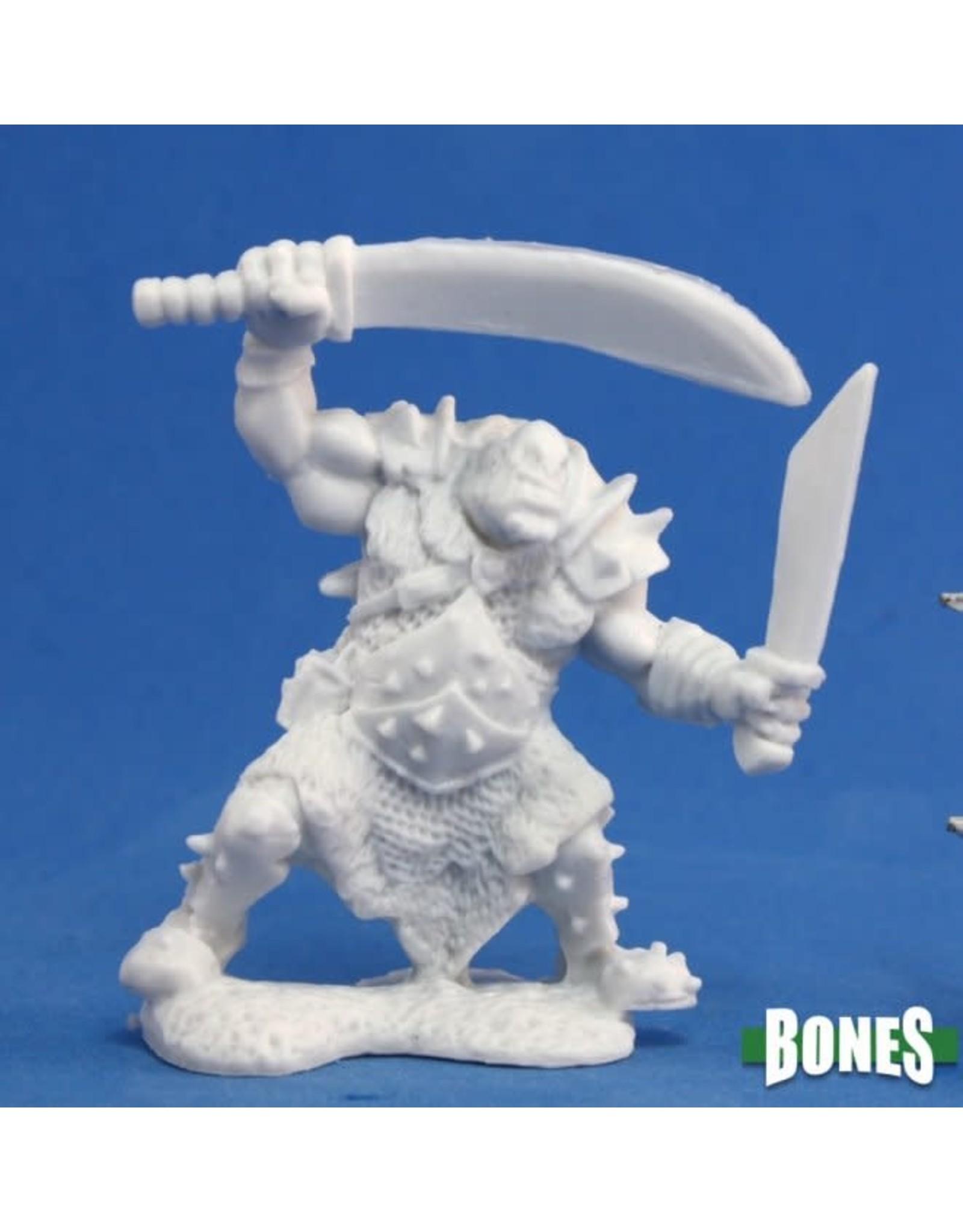 Reaper Miniatures Bones: Orc Stalker (Two weapons)