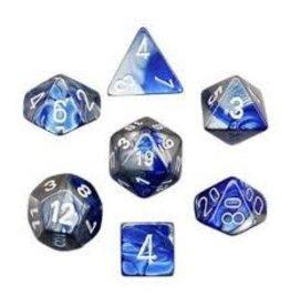 Chessex Gemini Poly Blue Steel/White (7)