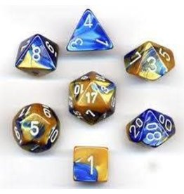 Chessex Gemini Poly Blue-Gold/White (7)