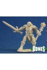 Reaper Miniatures Bones: Grundor Hoardtaker Barbarian