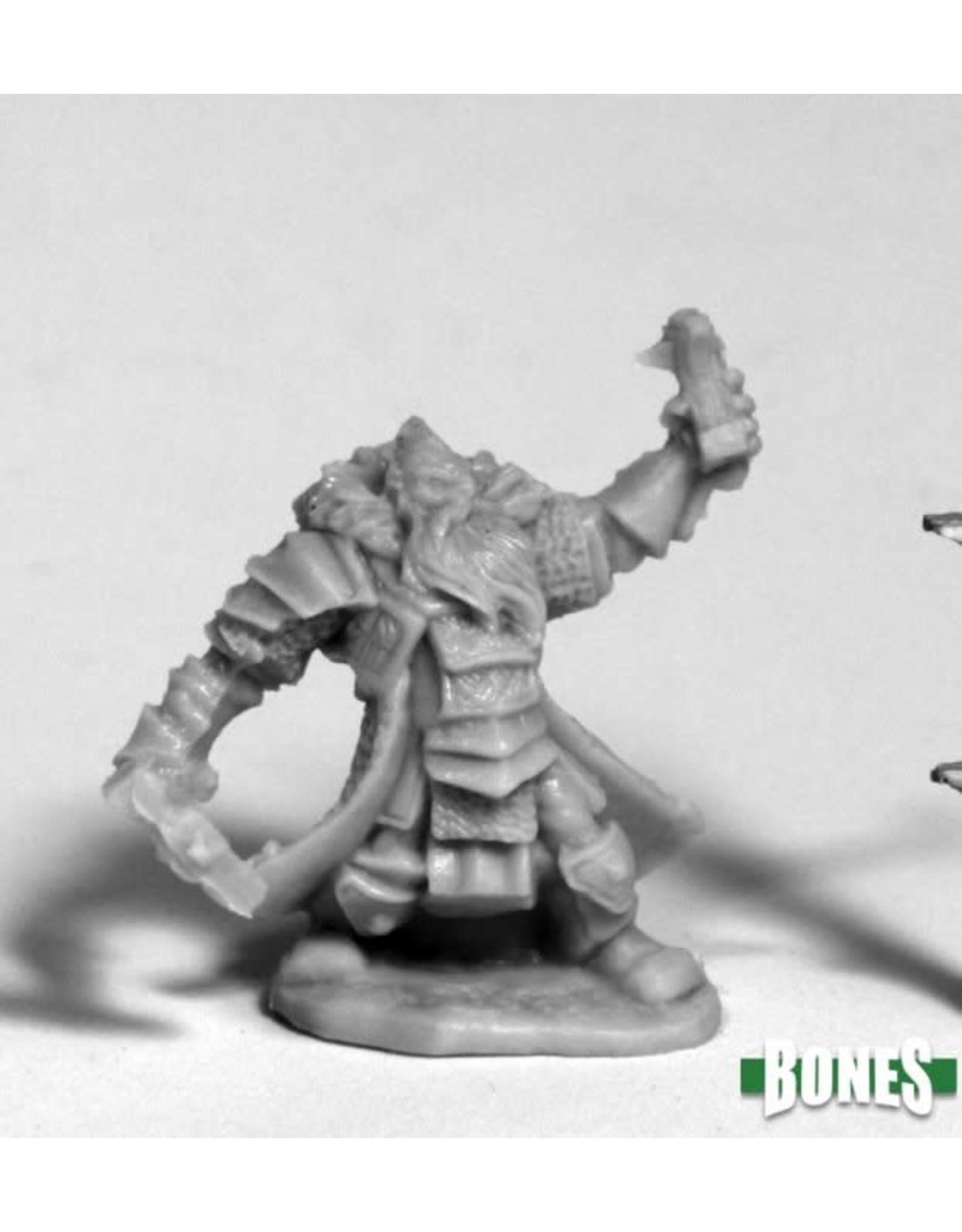 Reaper Miniatures Bones: Thain Grimthorn, Dwarf Cleric