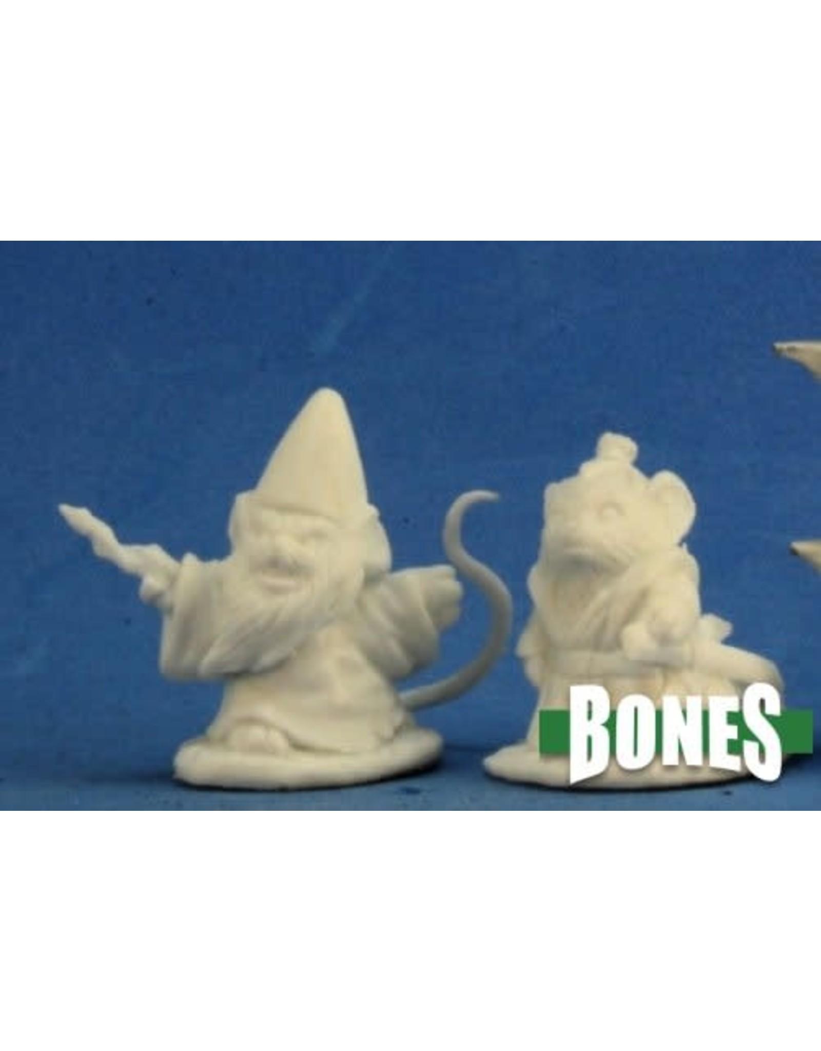 Reaper Miniatures Bones: Mousling Sorcerer + Samurai