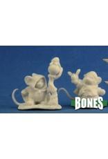 Reaper Miniatures Bones: Mousling Druid and Beekeeper