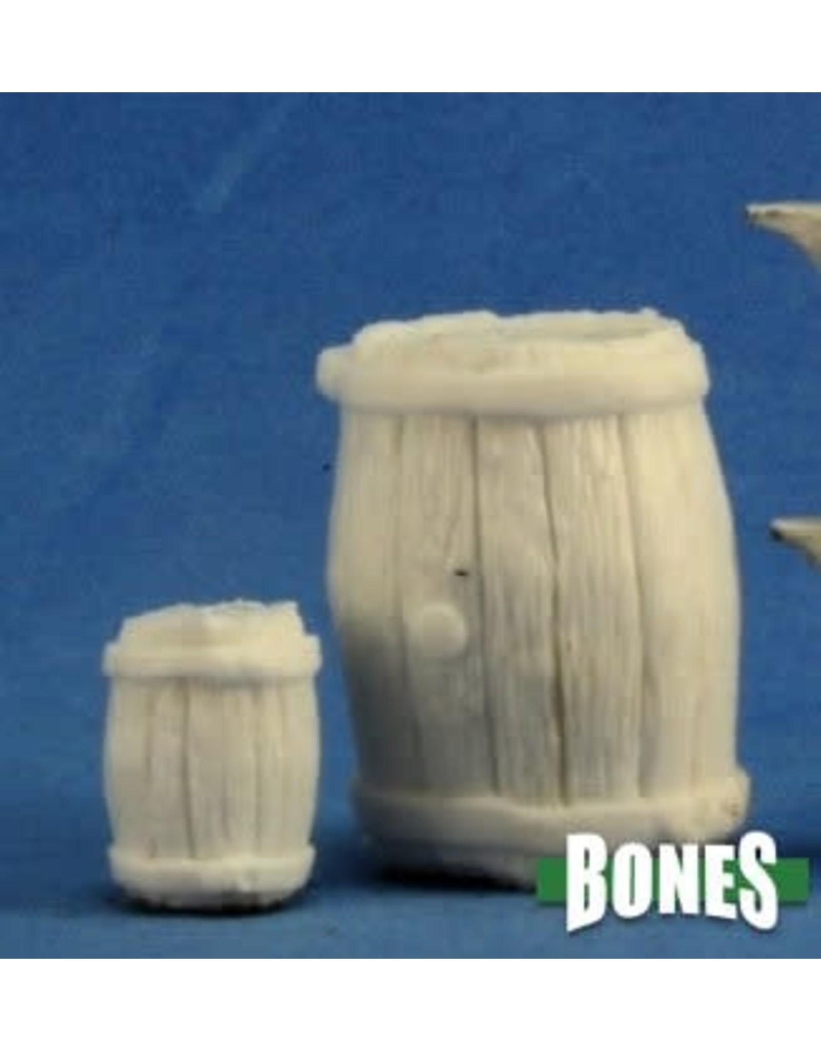 Reaper Miniatures Bones: Large Barrel + Small barrel