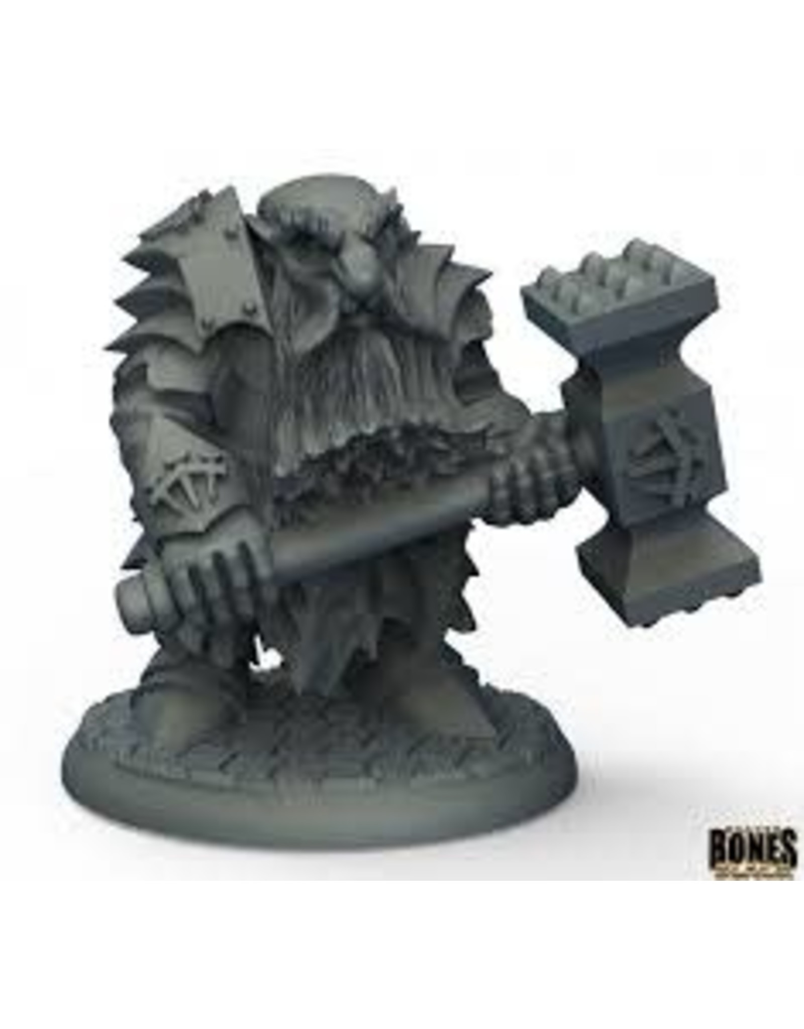 Reaper Miniatures Bones Black Dark Dwarf Pounder
