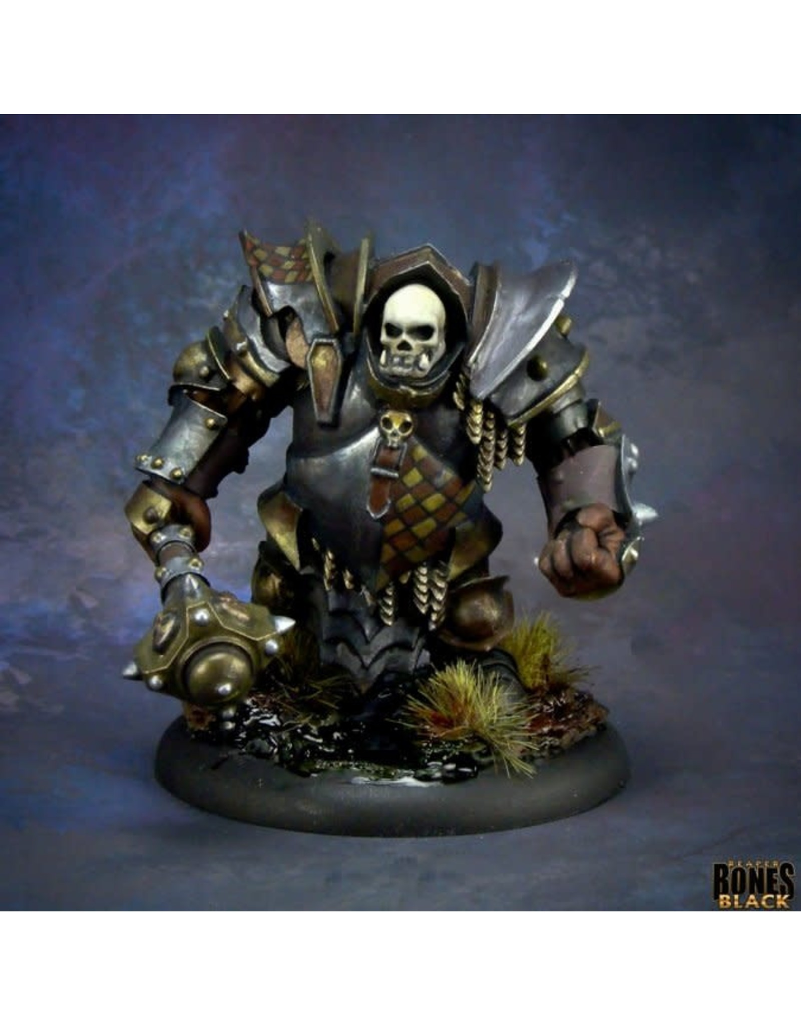 Reaper Miniatures BONES BLACK: MAGGOTCROWN OGRE JUGGERNAUT