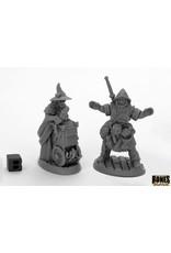 Reaper Miniatures Bones Black: Townsfolk Fishmongers