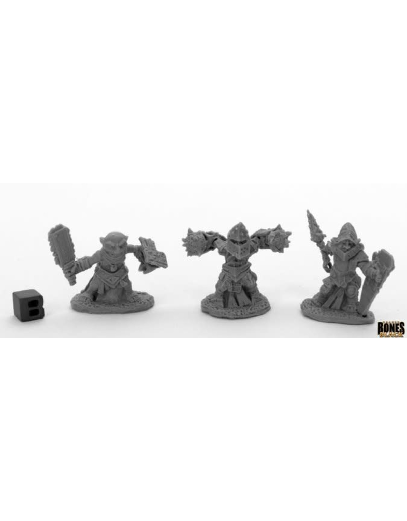 Reaper Miniatures Bones Black: Bloodstone Gnome Warriors