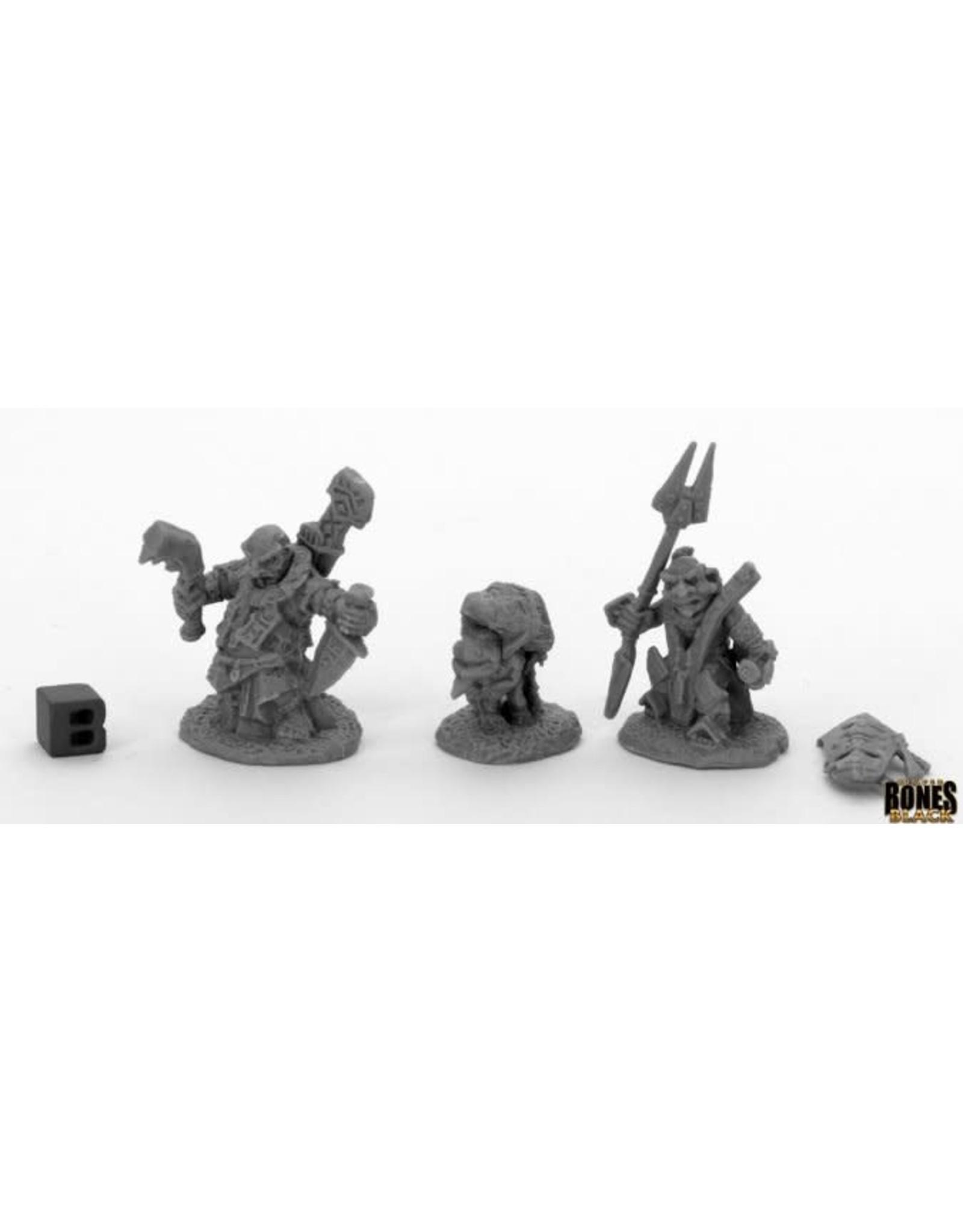 Reaper Miniatures Bones Black: Bloodstone Gnome Heroes