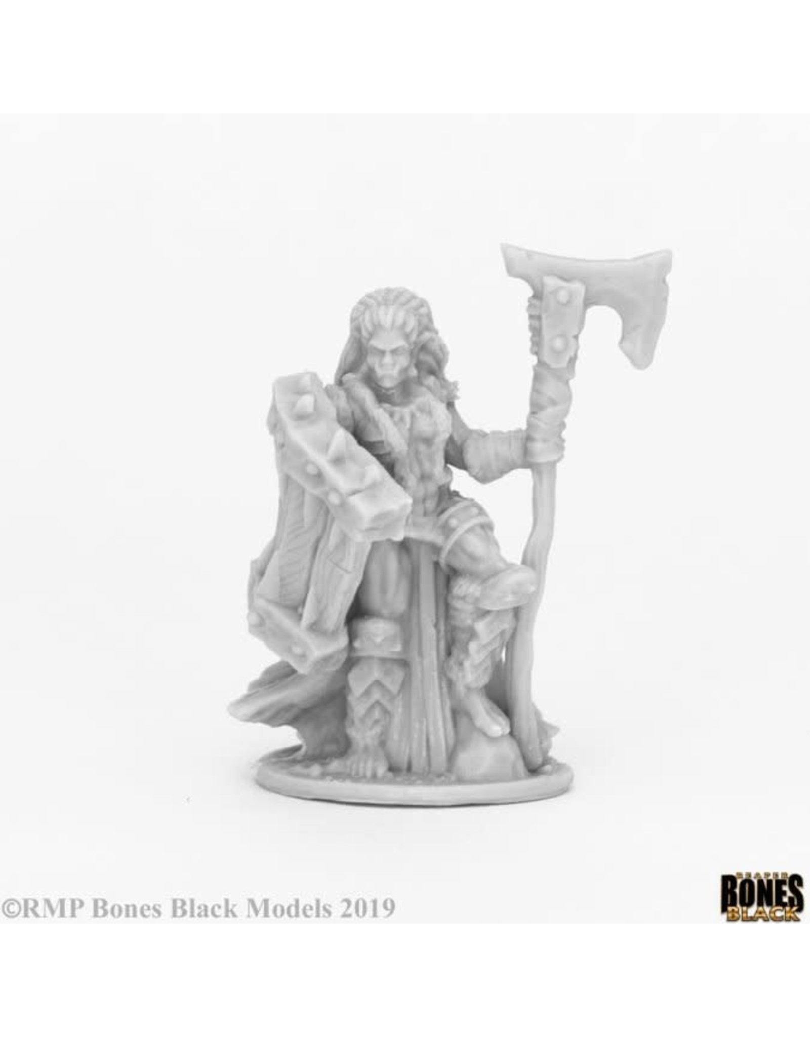Reaper Miniatures Bones Black: Jade Fire Chieftain