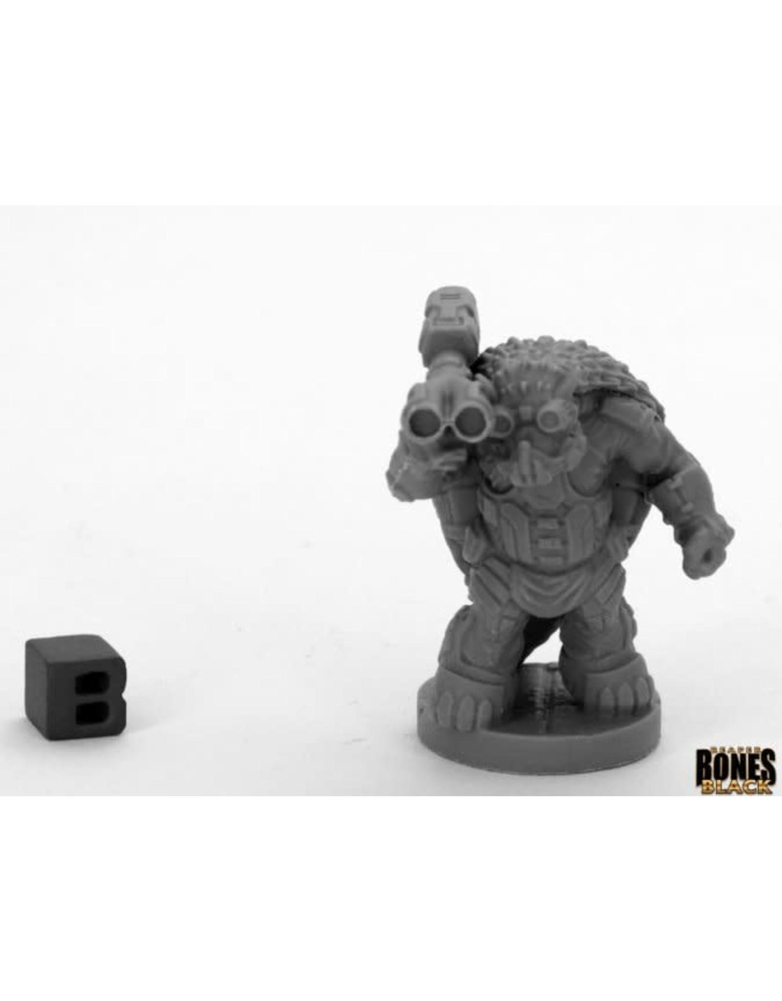 Reaper Miniatures Bones Black: ARMORBACK DEMOLITIONIST