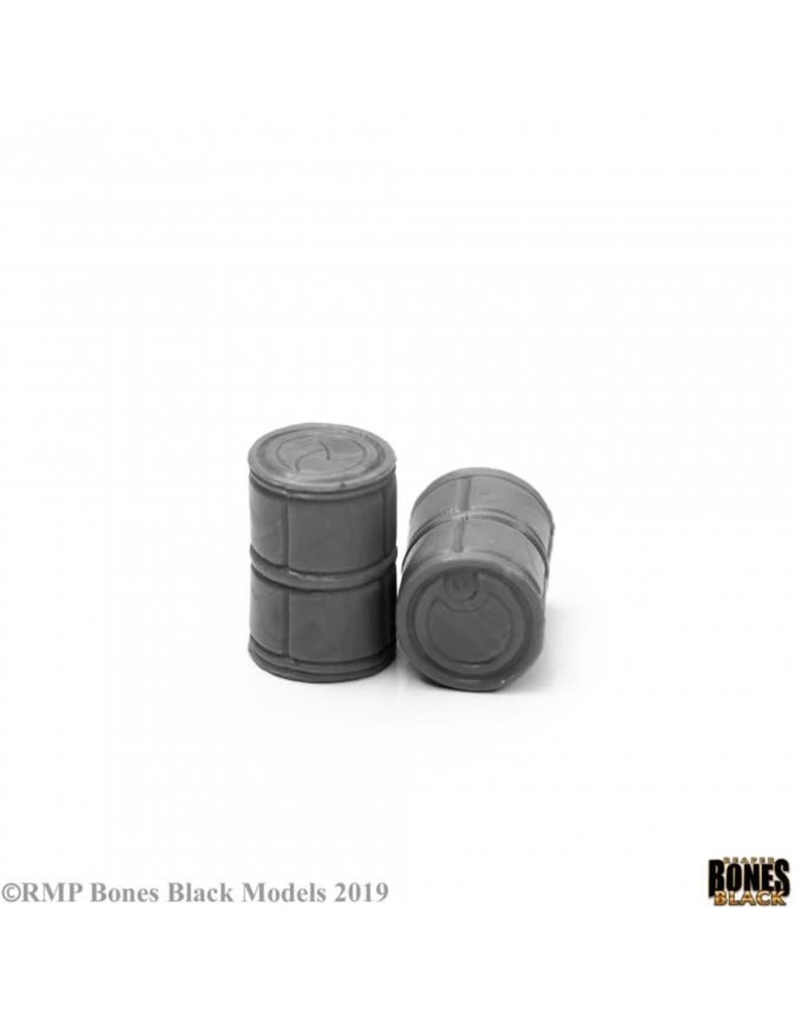 Reaper Miniatures Bones Black: Sci Fi Barrels (2)