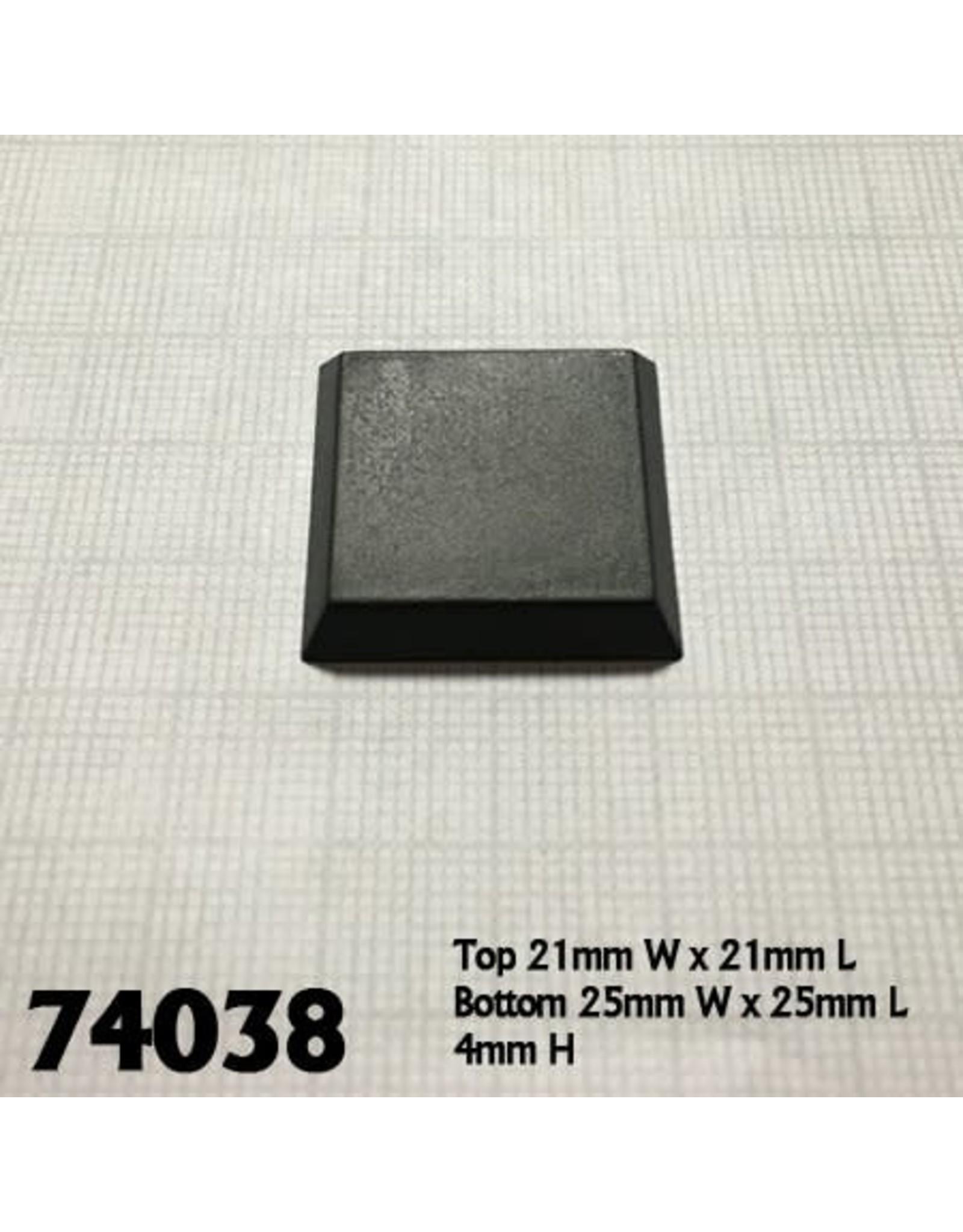 "Reaper Miniatures 1"" square flat top bases (20)"