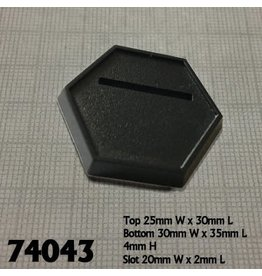 Slotted Hex Bases (20)