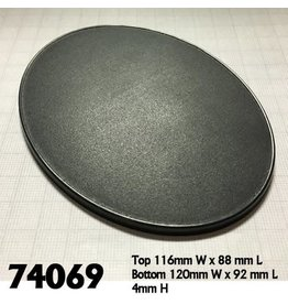 Reaper Miniatures Base Boss: 120mm x 92mm Oval Gaming Base (4)