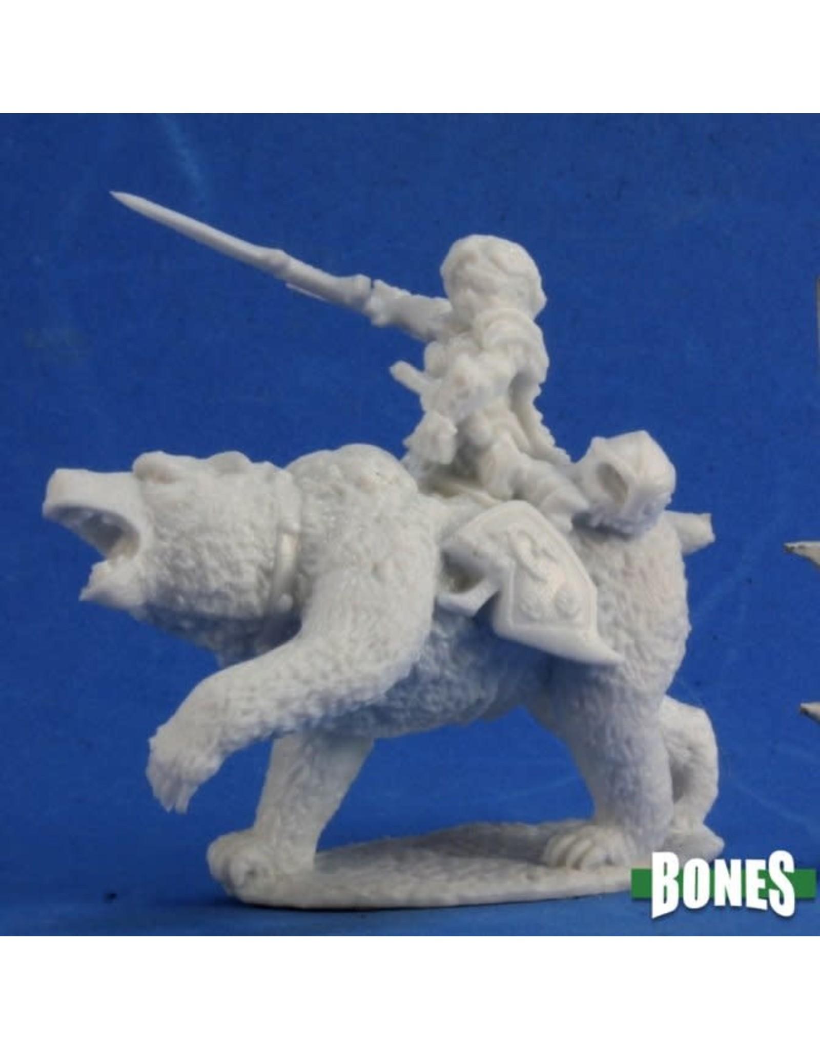 Reaper Miniatures Bones: Ursula Dwarven Bear Rider