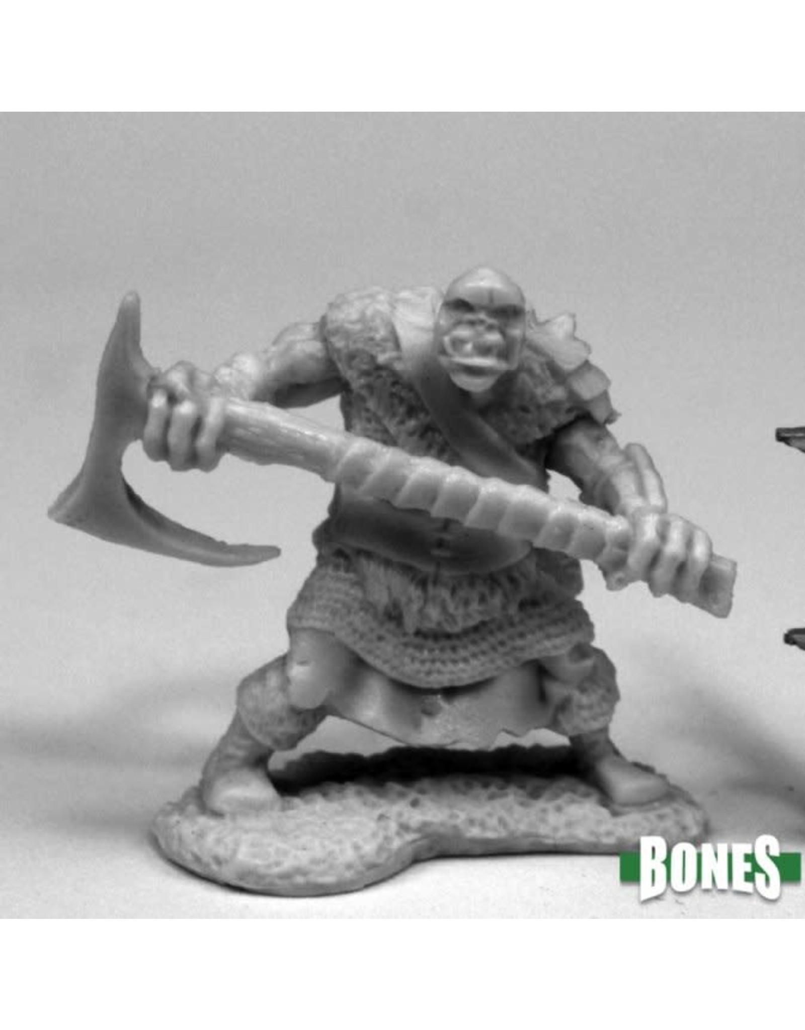 Reaper Miniatures Bones: Orc Chopper (2H Axe)