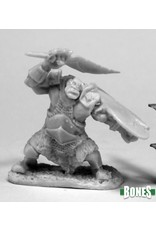 Reaper Miniatures Bones: Orc Slicer (Scimitar & Shield)
