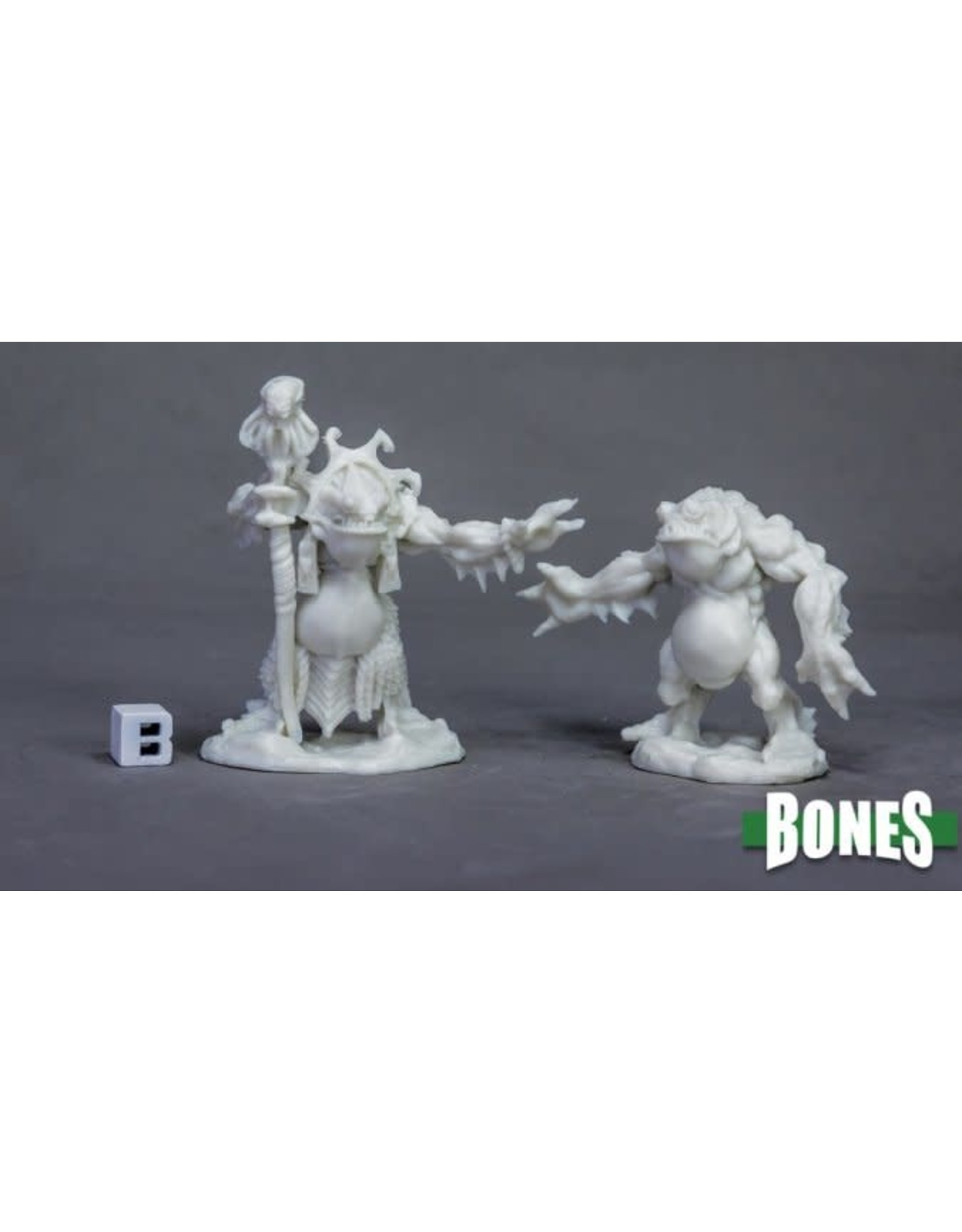 Reaper Miniatures Bones Deep One Priest & Servitor