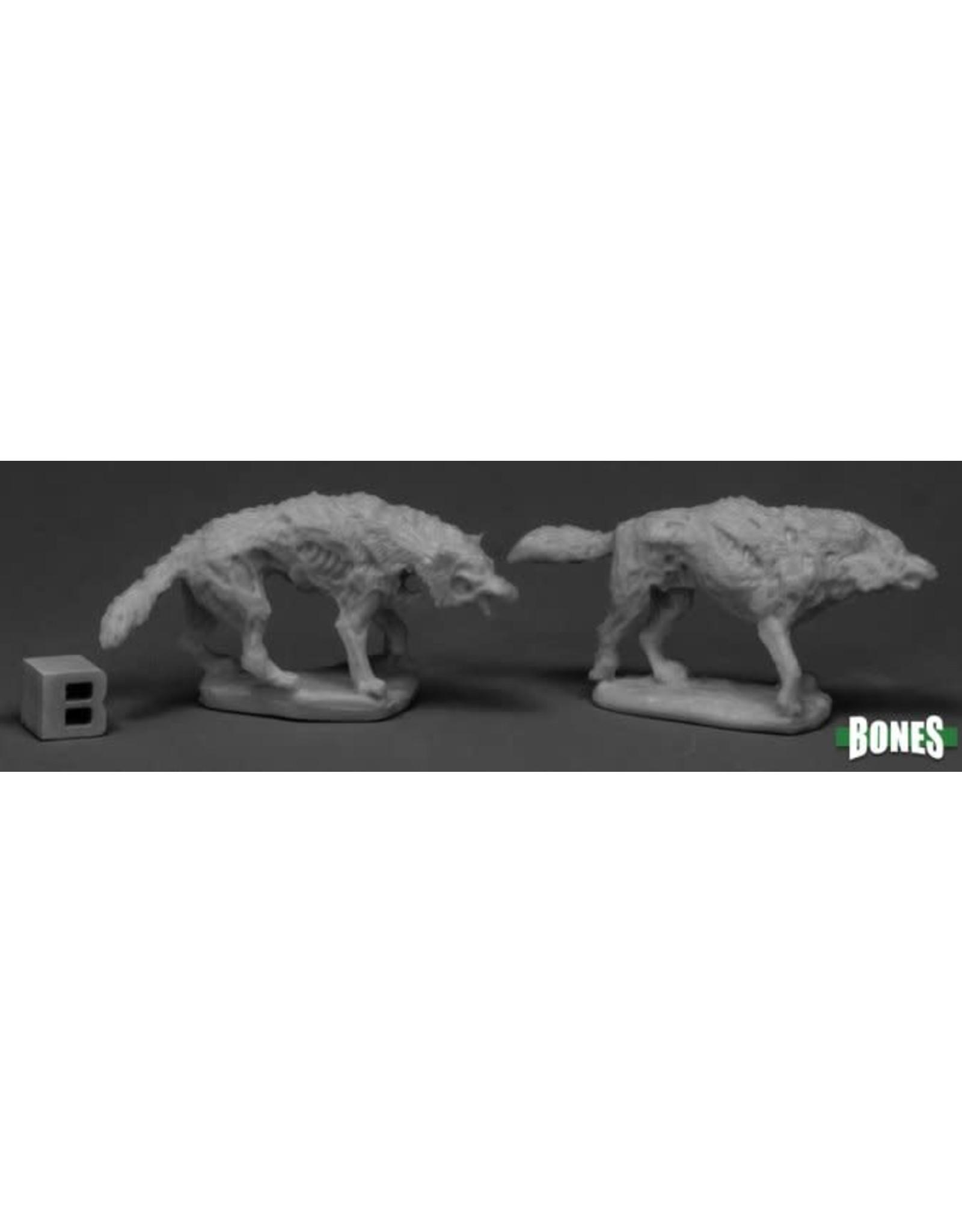 Reaper Miniatures Bones Dread Wolves (2)