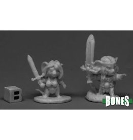 Reaper Miniatures Bones Barbarian Mouselings