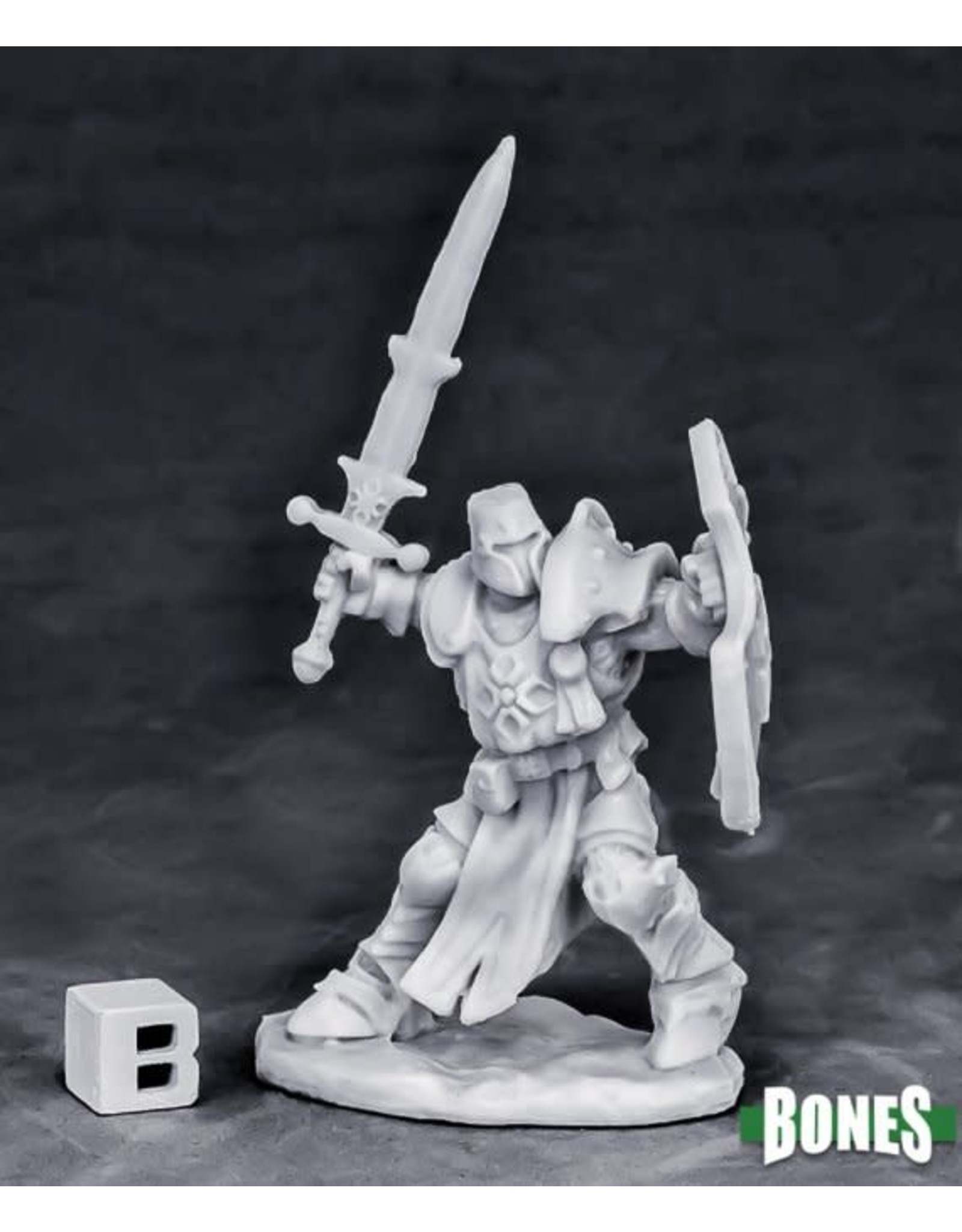 Reaper Miniatures Bones Crusader Champion (attacking)
