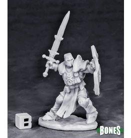 Reaper Miniatures Bones Crusader Champion (attacking)