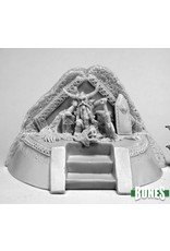 Reaper Miniatures Bones Dwarf King on Throne