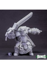 Reaper Miniatures Bones: Skorg Ironskull, Fire Giant King (Huge)