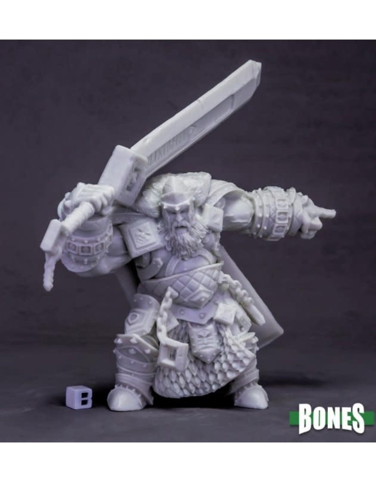 Reaper Miniatures Bones: Skorg Ironskull, Fire Giant King (Huge)