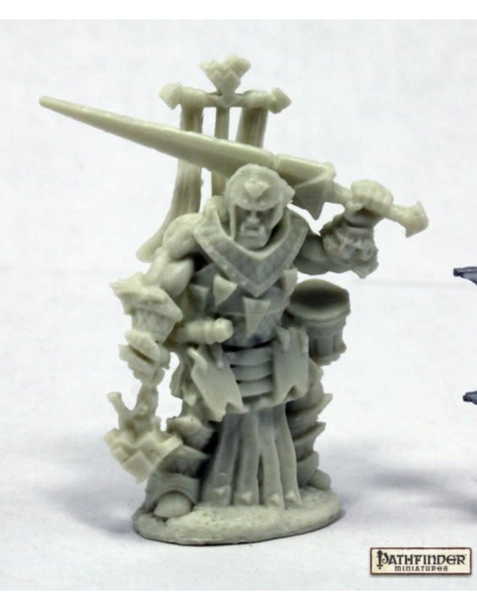 Reaper Miniatures Bones: Oloch, Iconic Warpriest