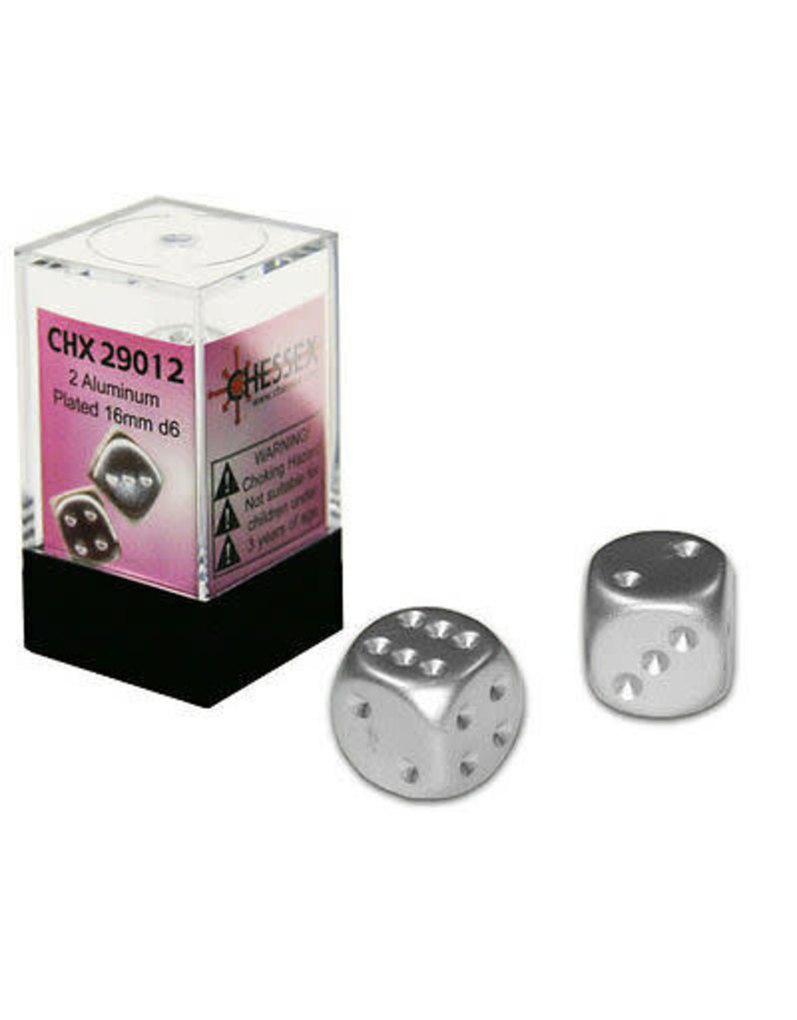 Chessex Aluminum Metallic 16mm D6 (2)