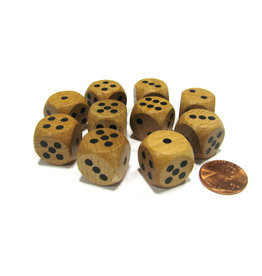 Koplow Games Wood D6 Dice (1)