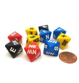 Koplow Games 10/BH Compass Dice Assorted Colors