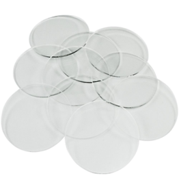 50mm, 3mm Thick Circular Clear Miniature Bases (50)