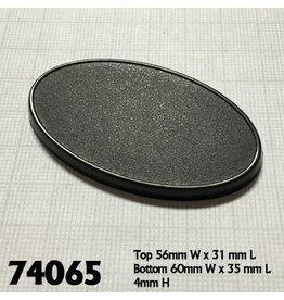 Reaper Miniatures 60mm x 35mm Oval Gaming Base