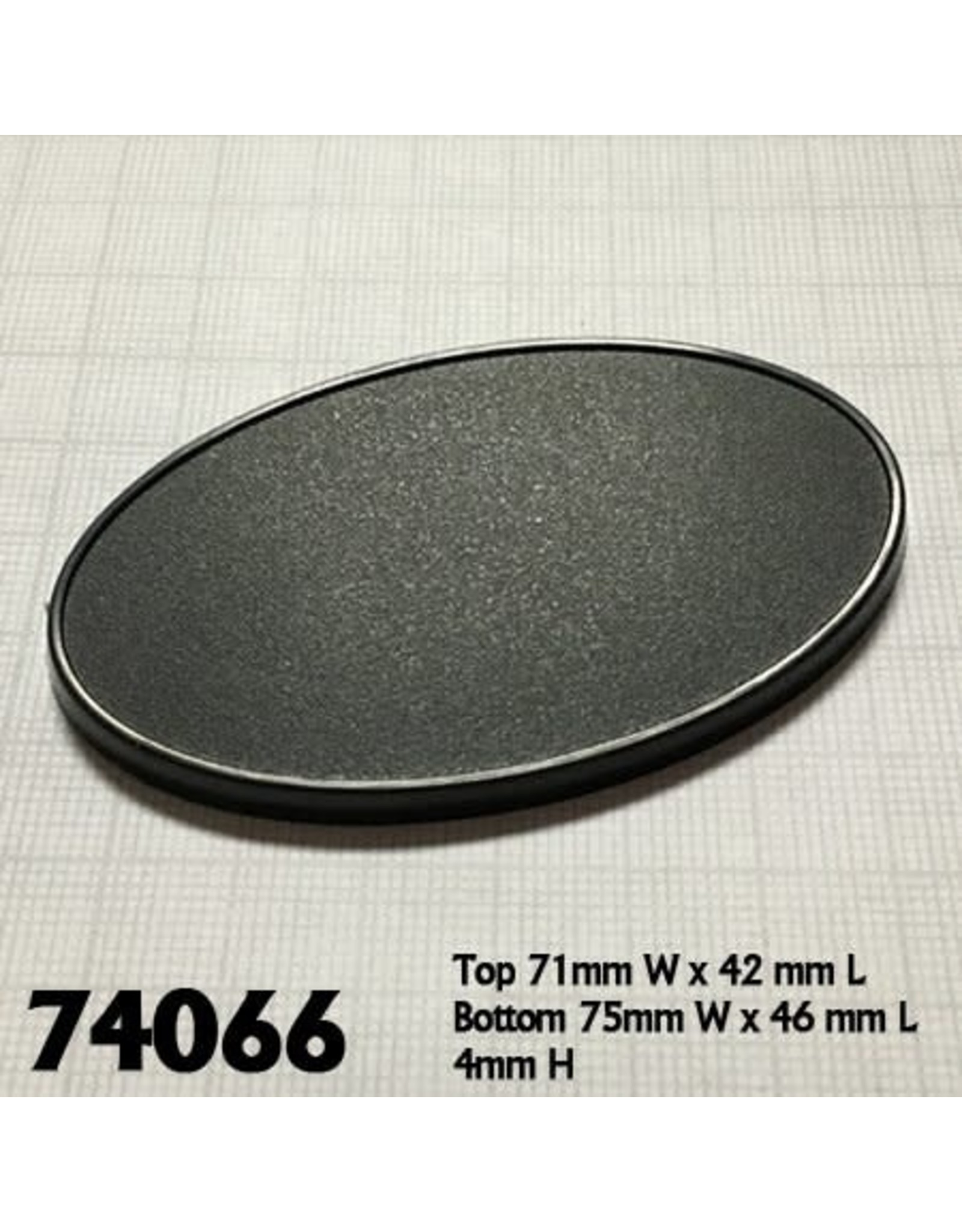 Reaper Miniatures 75mm x 46mm Oval Gaming Base