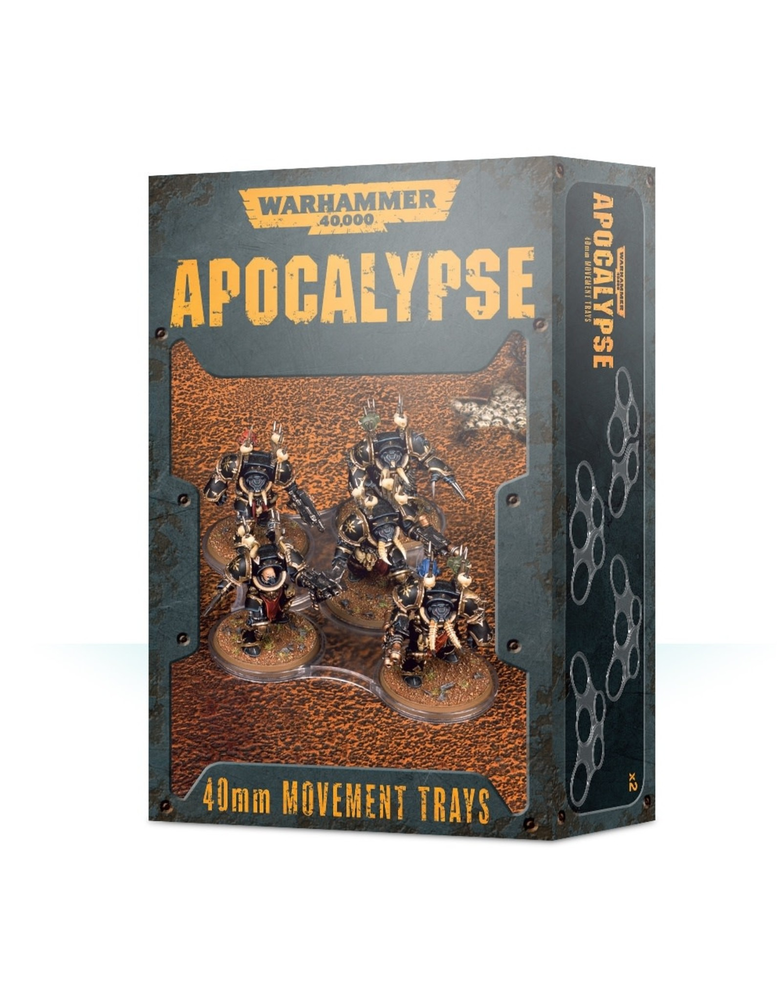 Games Workshop Apocalypse Movement Trays: 40mm