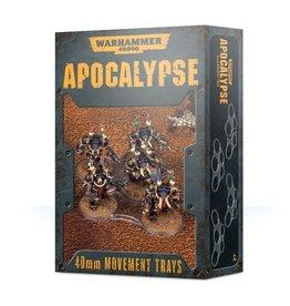 Games Workshop Apocalypse Movement Trays: 40mm
