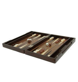 Wood Expressions Backgammon Walnut Stain Wood 12 in