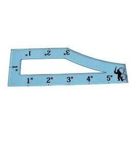 Bandua Accessories: Asu 40k Template (Blue)