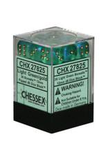 Chessex Borealis 12mm D6 Light Green/Gold (36)