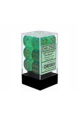 Chessex Borealis 16mm d6 Light Green/silver (12)