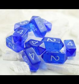 Crystal D4 Dice Blue Translucent (10)