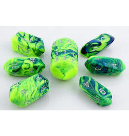 Crystal Toxic Dice Green Blue (7)